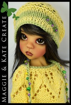 "OOAK Yellow & Green Outfit for Kaye Wiggs 18"" MSD BJD by Maggie & Kate Create"