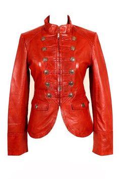 Handmade women military leather jacket women by customdesignmaster, $189.99
