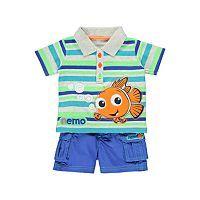 Nemo Polo Shirt and Shorts Set   Baby   George at ASDA