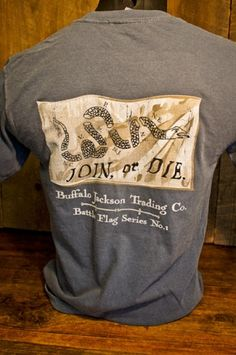 424ee5e61 Join or Die - Pocket T-Shirt by Buffalo Jackso, Republican, Conservative,