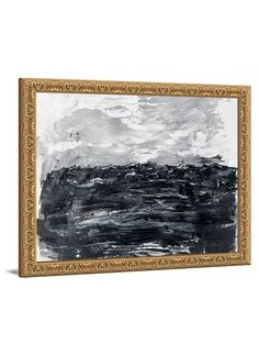 Black and white art - Wilder Waters II abstract canvas art from Lindsay Letters.