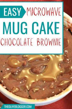 Two Minute Mug Cake Recipes! Features a Salted Caramel Mug Cake AND a Chocolate Brownie Mug Cake with a Ooey Peanut Butter middle! Your new go-to dessert any night of the week! New Dessert Recipe, Pie Dessert, Brownie Recipes, Cake Recipes, Dessert Recipes, Easy Desserts, Delicious Desserts, Easy Mug Cake, Sheet Cakes