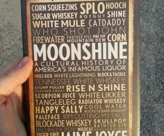 Cultural History Of Moonshine Book  Learn the real story of our nations unique brand of hooch within the pages of the Cultural History Of Moonshine book. Youll go on an in depth journey through its tumultuous past from the very first batches to the potent white lightning we know and love today.  $18.63  Check It Out  Awesome Sht You Can Buy