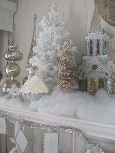 White Christmas Mantle