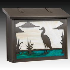 Blue Heron Mailbox - Large