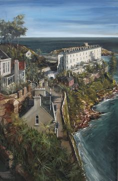 Sorrento Terrace, Dalkey, County Dublin, Ireland, oil on canvas, Gerard Byrne, www.gerardbyrneartist.com