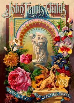 Vintage seed cataogs | 1500 Vintage Flower Postcard Floral Clip Art Photo DVD | eBay