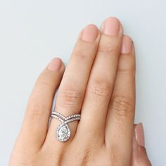 Pear Shaped Moissanite Ring by @sillyshiny