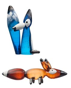 Iittala's new Vulpes foxes are exquisite objects of contemporary glass art and are designed by Klaus Haapaniemi