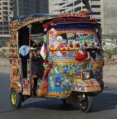 Artsy rickshaw