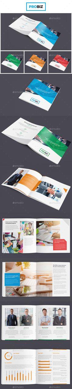 ProBiz – Business and Corporate Portfolio Bi-Fold Square