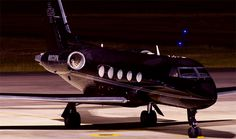 all black private jet.
