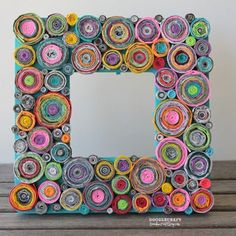 Upcycled Rolled Paper Frame!: 5 Steps (with Pictures)