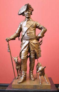 Frederick Hohenzollern II, statua, Johann Gottfried Schadow, Piccolo Levriero Italiano