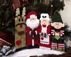 Christmas Characters in Plastic Canvas