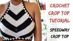 Tutorial from Start to Finish Crochet Speedway Crop Top Pattern. Tutorial from Start to Finish Top Tejidos A Crochet, Top Crop Tejido En Crochet, Crochet Halter Tops, Crochet Blouse, Crochet Top, Free Crochet, Diy Crop Top, Crop Tops, Tank Tops