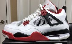 4796438d8781 Air Jordan Retro 4 Fire Red Sz 9.5 100% Authentic. Priced to sell  today🔥🔥🔥