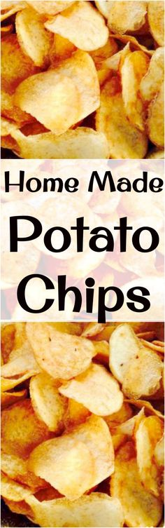 Home Made Potato Chips - Make your own and be as creative as you like with your flavourings! Lots of seasoning suggestions in the recipe for you.