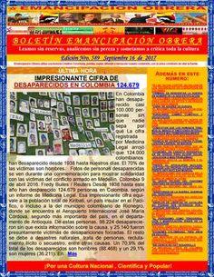 Boletin emancipación obrera n° 589 septiembre 16 de 2017  Medio Alternativo Independiente de Noticias, Opinión, Ciencia y Cultura Popular. Libros gratis. Guillermo Molina Miranda.