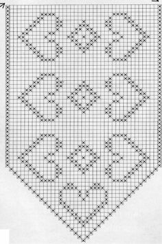 @nika Crochet Doily Diagram, Filet Crochet Charts, Crochet Square Patterns, Christmas Crochet Patterns, Crochet Stitches Patterns, Crochet Doilies, Stitch Patterns, Crochet Crafts, Crochet Projects