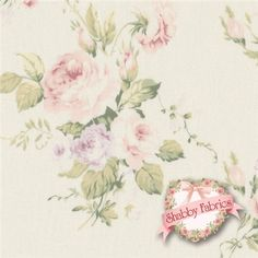 "Live Life 812735-A by Yuwa Fabrics: This incredibly beautiful and detail-oriented Yuwa fabric is from the Live Life collection. The fabric features an off-white background with true pink, blush, purple, and white rose bouquets as well as crisp greenery trailing through the background. Yuwa is a Japanese fabric manufacturer that creates some of today's highest-end and most sought after cottons.  This fabric is 44""/45"" wide, 100% cotton, imported from Japan. Yuwa Fabrics."