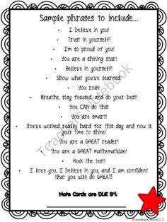 Testing Letter for Students | School Stuff | Pinterest ...
