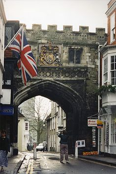 Town Gate, Salisbury, Wiltshire, UK - th e number of times I walked under these over the years - loved seeing it again, brings back memories