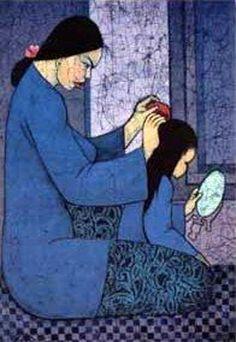 Combing Hair - Chuah Thean Teng (1914 – 2008, Chinese-born Malaysian)