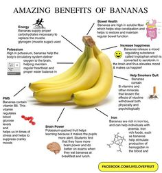 Benefits of Bananas via @Carly Fraser and @Food Matters