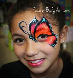 Butterfly face paint design
