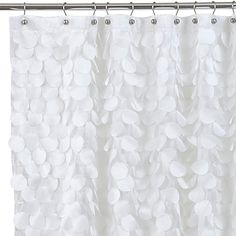 Gigi Fabric Shower Curtain in White