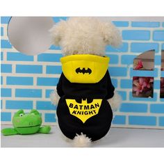 >> Click to Buy << Pet Dog Hoodies Batman Knight Costume Winter Warm Coat Clothes Funny Batman Coat Hoodie Without Sunglasses 11682 #Affiliate