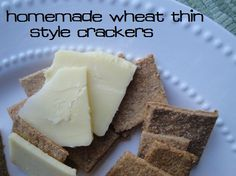 100% Whole Wheat Crackers (soaked option available; no refined sugars -  tastes like a Wheat Thin!) :: via Kitchen Stewardship