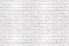 White brick wallpaper goes well with black wood board floor