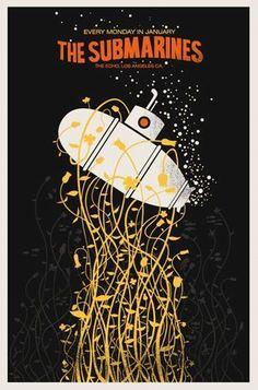 The Submarines Concert Poster by Methane Studios - Methane Studios - Gallery