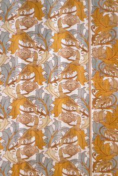Halcyon G. P. and J. Baker, Ltd. (England, London, founded 1884) Charles Francis Annesley Voysey (England, London, 1857-1941) England, designed circa 1888; printed circa 1895 Textiles