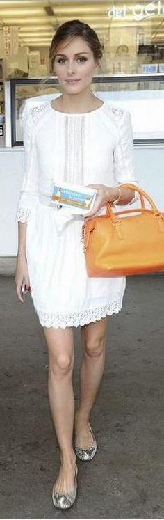 Olivia Palermo in Heartloom white lace dress   House of Beccaria~