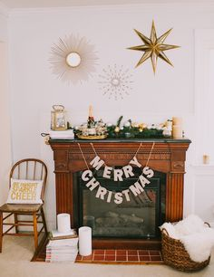 A Glam Holiday Mantle With Pottery Barn | theglitterguide.com