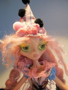 ALPHIE PIXIE CLOWN one of a kind art doll ball by Kaeriefaerie52, $95.00