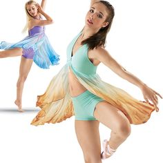 lyrical dance costume for trio.
