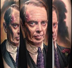 Paul Acker portrait #tattoo