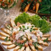 Lajos Mari konyhája - Körtés-szőlős libamellsaláta Potato Salad, Potatoes, Meat, Chicken, Ethnic Recipes, Food, Potato, Essen, Meals