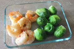 Fast Food: Sweet Thai Shrimp & Brussel Sprouts - The Kitchen Magpie. I'd do the shrimp oven-baked. Yummy Vegetable Recipes, Healthy Recipes, Healthy Meals, Easy Recipes, Healthy Food, Thai Shrimp, Easy Appetizer Recipes, Sweet Chili, How To Cook Shrimp