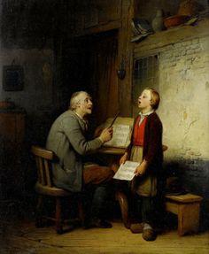 Unknow title.  Francois-Louis Lanfant (French, 1814-1892). @@@@......http://www.pinterest.com/jvivancos/pinacoteca-de-leducaci%C3%B3/