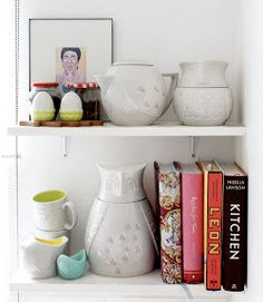 Ideas for styling kitchen shelves
