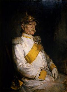 Portrait of Otto Eduard Leopold von Bismarck by Franz von Lenbach, 1890.