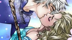 Day 12 - Making out Jack Frost x Elsa (Rise of the Guardians and Frozen) Day 01 - Holding Hand by DiWine-WaroDay 02 - Cuddling by ji. 30 Day Challenge [Jelsa] Day 12 - Making out Deco Disney, Arte Disney, Disney Fan Art, Jack Y Elsa, Jack Frost And Elsa, Jelsa, Frozen Love, Frozen Heart, Disney Couples
