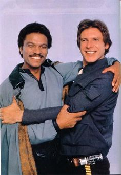Star Wars: Episode V - The Empire Strikes Back Billy Dee Williams Lando Calrissian Star Wars and Harrison Ford as Hans Solo Star Wars Film, Star Wars Episoden, Star Wars Han Solo, Harrison Ford, Stargate, Indiana Jones, Images Star Wars, Star Wars Pictures, Star Citizen