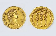 The coin bears the image of Emperor Augustus and dates back to 107 A.D.