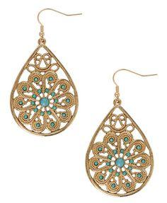 Beaded Paisley Earrings - StyleSays